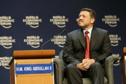 "JORDAN""S KING HUSSEIN OPENS WORLD ECONOMIC FORUM"