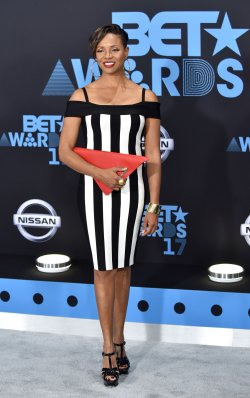 MC Lyte attends the annual BET Awards in Los Angeles