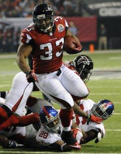 The Atlanta Falcons play the New York Giants in Atlanta