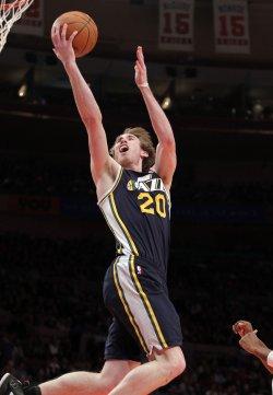 Utah Jazz Gordon Hayward at Madison Square Garden in New York