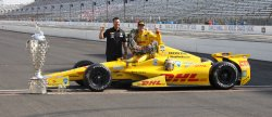Ryan Hunter- Reay wins 98th Indianapolis 500 at the Indianapolis Motor Speedway