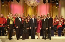 President Bush Hosts Marine Corps Band for PBS Special