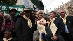 Actress Joanna Lumley wins Gurkha campaign in London