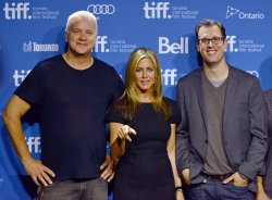 Jennifer Aniston and Tim Robbins attend 'Life of Crime' press conference at the Toronto International Film Festival