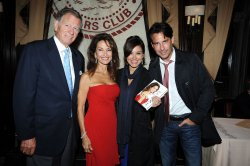 Helmet Huber, Susan Lucci, Gretta Monahan and Ricky Paull Goldin book signing at the Friars Club