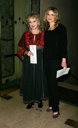 Carol Kane and Kyra Sedgwick arrive for the New York Stage and Film's Annual Gala in New York