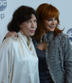 Lily Tomlin and Reba McEntire attend the Disney ABC Television Group Party in Beverly Hills