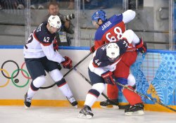Men's Hockey USA vs Czech Republic during the Sochi 2014 Winter Olympics