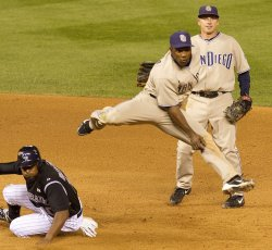 Padres Tejada Ends Game with Double Play Against the Rockies in Denver