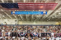 President Donald J. Trump particiaptes in the Gerald R. Ford (CVN78) Commissioning in Norfolk, Virginia