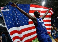 Draymond Green of the United States celebrates at Rio Olympics