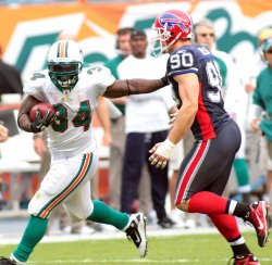 Buffalo Bills at Miami Dolphins. NFL divisional game week 15, at Sun Life Stadium, Miami, Fl