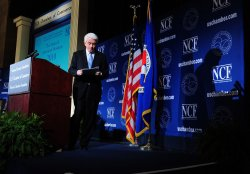 U.S. Chamber of Commerce President Thomas Donohue speaks on the state of business in Washington