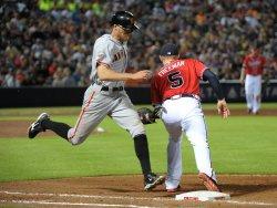 The Atlanta Braves play the San Francisco Giants in Atlanta