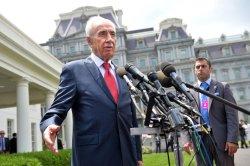 Israeli President Shimon Peres visits the White House in Washington, D.C.