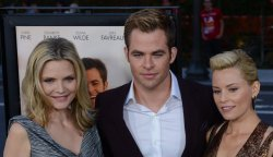 "Elizabeth Banks, Chris Pine and Michelle Pfeiffer attend the ""People Like Us"" premiere in Los Angeles"