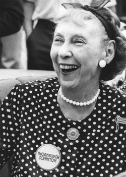 Mamie Eisenhower supports Dick Thornburgh as governor