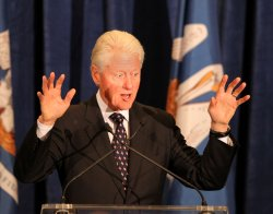 Former President Bill Clinton and Senator Mary Landrieu Campaign Event in Baton Rouge Louisiana.