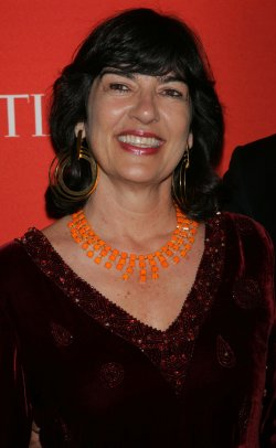 Christiane Amanpour arrives for the Time 100 Gala in New York