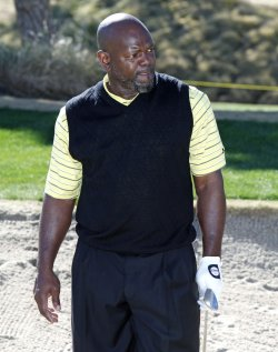 Emmitt Smith arrives at the Bob Hope Classic Golf Pro-Am in La Quinta