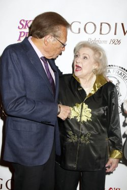 Betty White and Larry King arrive for the Friars Club Roast of Betty White in New York