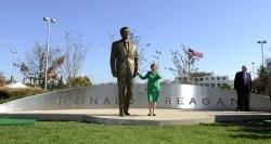 Reagan statue unveiled at Ronald Reagan Washington National Airport in Virginia