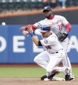 Washington Nationals Roger Bernadina hits a solo homer at Citi Field in New York