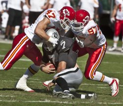 Six interceptions highlight Kansas City Chiefs 28-0 shut out of Raiders in Oakland, California