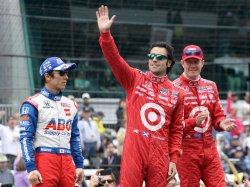 Drivers Franchitti, Sato and Dixon Are Introduced Before Indy 500