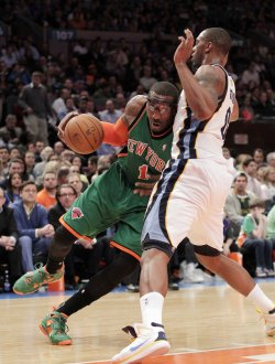 New York Knicks Amar'e Stoudemire at Madison Square Garden in New York