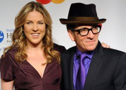 Diana Krall and Elvis Costello arrive at the MusiCares Person of the Year tribute in Los Angeles