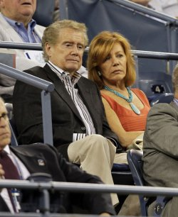 Regis Philbin at the U.S. Open Tennis Championships in New York