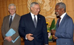 US SECRETARY OF STATE POWELL AND UN SECRETARY GENERAL ANNAN DISCUSS SUDAN