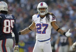Bills Gilmore called on interference against Patriots at Gillette Stadium in Foxboro, MA