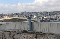 Overview Israeli Separation Wall, West Bank