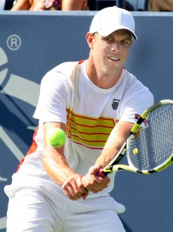 Sam Querrey takes on Yen-Hsun Luin in first-round action at the U.S. Open in New York