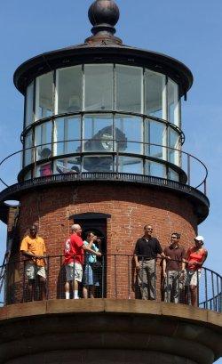 The Obama's visit a lighthouse on martha's vineyard