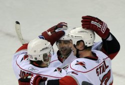 Hurricanes Staal scores against the Capitals in Washington