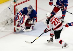 New Jersey Devils defeat the New York Rangers in game 5 of the Eastern Conference Finals at Madison Square Garden in New York