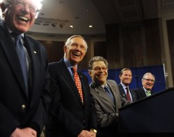 Senate Democrats rally to support Social Security in Washington