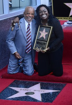 Barry White receives posthumous star on Hollywood Walk of Fame in Los Angeles