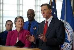 Transportation Security news conference held at National Airport in Virginia