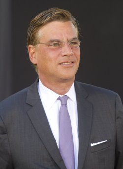 "Aaron Sorkin arrives at the premiere of ""Moneyball"" in Oakland, California"