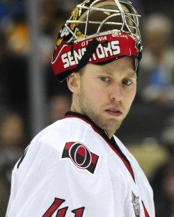 Ottawa Senators Goalie Craig Anderson in Pittsburgh