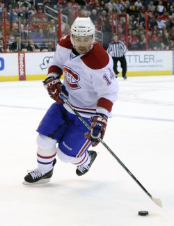 Canadiens Plekanec plays against the Capitals in Washington