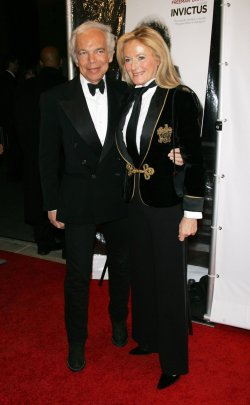 """Ralph Lauren and wife arrive for the Museum of the Moving Image Salute to Clint Eastwood and Special Advance Screening of """"Invictus"""" in New York"""