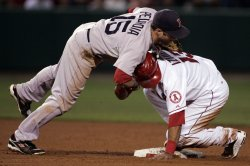Game 2 ALDS - Boston Red Sox at Los Angeles Angels