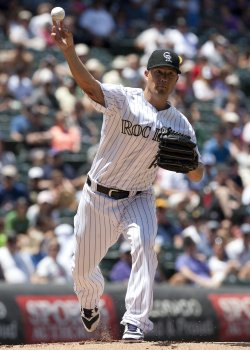 Rockies Pitcher Guthrie Self Destructs in Third Against the Pirates in Denver