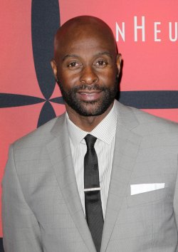 "Jerry Rice arrives on the red carpet at ESPN The Magazine's ""NEXT"" Event at Super Bowl XLVI in Indianapolis"