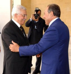 PALESTINIAN PRESIDENT MEETS WITH LEBANESE OFFICIALS